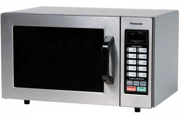 Large image of Panasonic Commercial Countertop Microwave Oven In Stainless Steel - NE-1054F