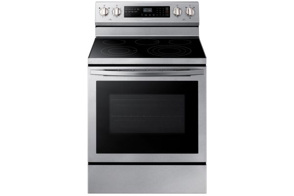 Large image of Samsung 5.9 Cu. Ft. Stainless Steel Freestanding Electric Range With True Convection - NE59R6631SS/AA