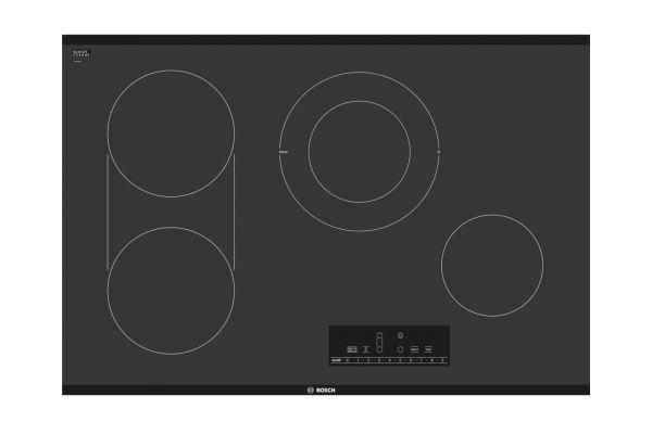 """Bosch 800 Series 30"""" Black Frameless Electric Cooktop  - NET8068UC"""