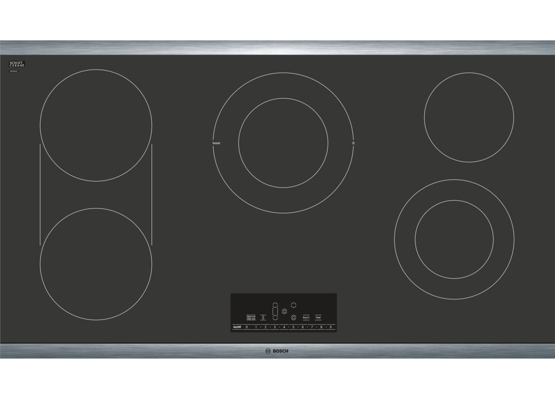 Bosch 36 Quot Stainless Frame Electric Cooktop Net8668suc