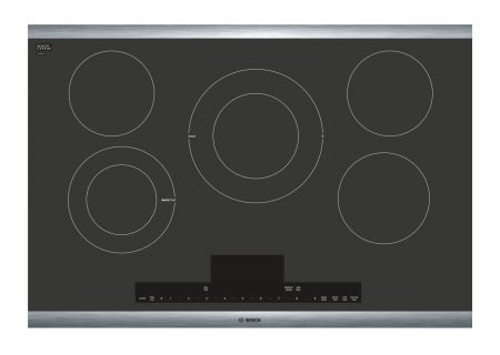 "Bosch Benchmark Series 30"" Black With Stainless Steel Frame Electric Cooktop  - NETP068SUC"