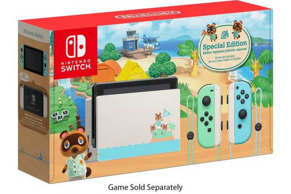 Large image of Nintendo Switch Animal Crossing: New Horizons Edition Gaming Console - HADSKEAAA