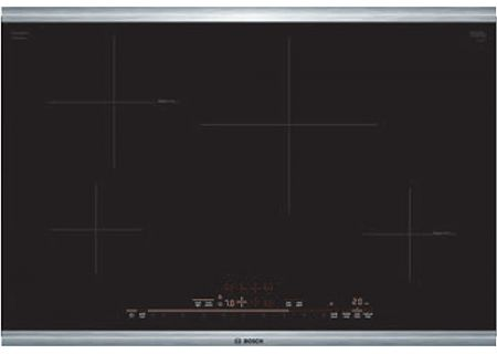 """Bosch 30"""" 800 Series Black With Stainless Steel Frame Induction Cooktop - NIT8069SUC"""
