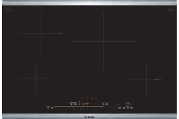 "Bosch 30"" 800 Series Black With Stainless Steel Frame Induction Cooktop - NIT8069SUC"