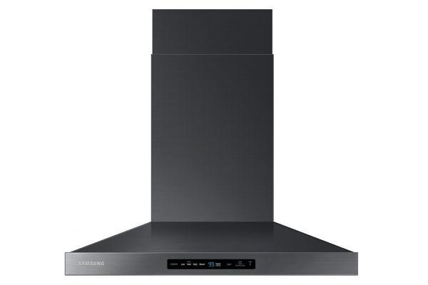 "Large image of Samsung 30"" Black Stainless Steel Wall Mount Hood - NK30K7000WG/A2"