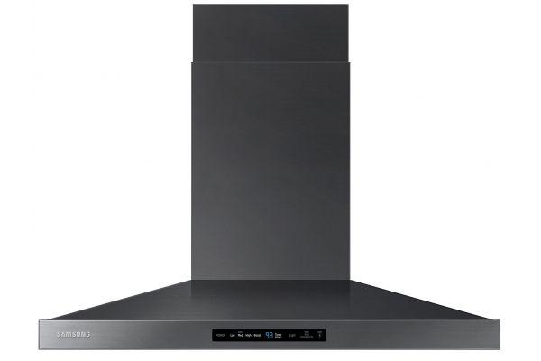 "Large image of Samsung 36"" Black Stainless Steel Wall Mount Hood - NK36K7000WG/A2"
