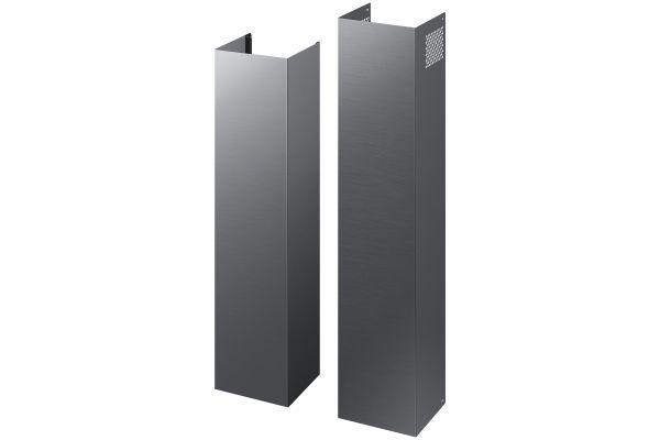 Large image of Samsung Fingerprint Resistant Black Stainless Steel Hood Extension Kit - NK-AE505PWG/AA