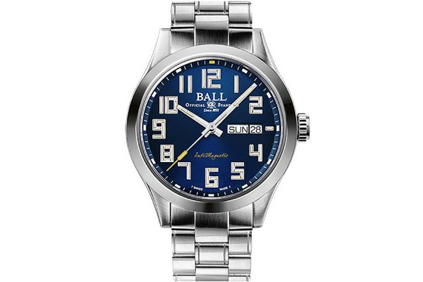 Large image of Ball Engineer III Starlight Blue Dial Stainless Steel Mens Watch - NM2182CS12BE