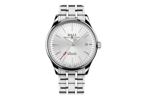 Large image of Ball Trainmaster Manufacture 80 Hours Automatic Stainless Steel Mens Watch - NM3280DS1CJSL