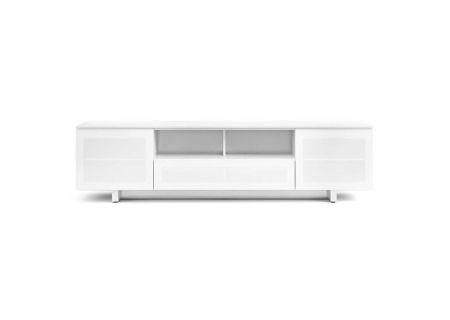 BDI Nora 8239 Slim Gloss White TV Stand - NORA8239SWH