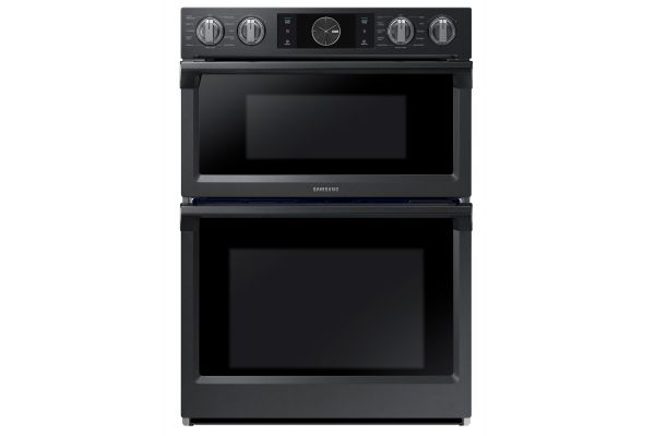 """Large image of Samsung 30"""" Fingerprint Resistant Black Stainless Steel Built-In  Microwave Combination Wall Oven - NQ70M7770DG/AA"""