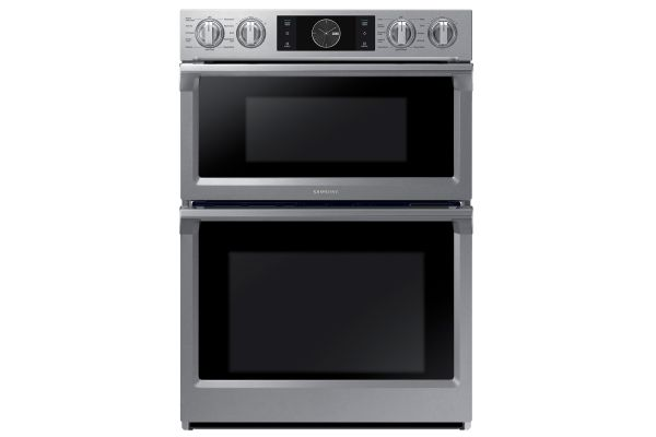 """Large image of Samsung 30"""" Stainless Steel Built-In  Microwave Combination Wall Oven - NQ70M7770DS/AA"""