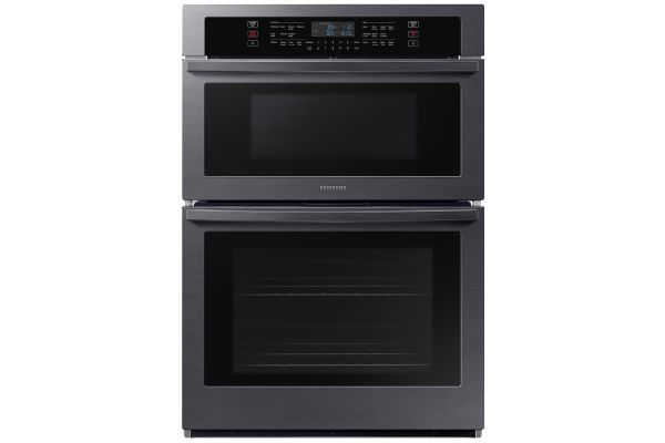 """Large image of Samsung 30"""" Fingerprint Resistant Black Stainless Steel Microwave Combination Wall Oven - NQ70T5511DG/AA"""