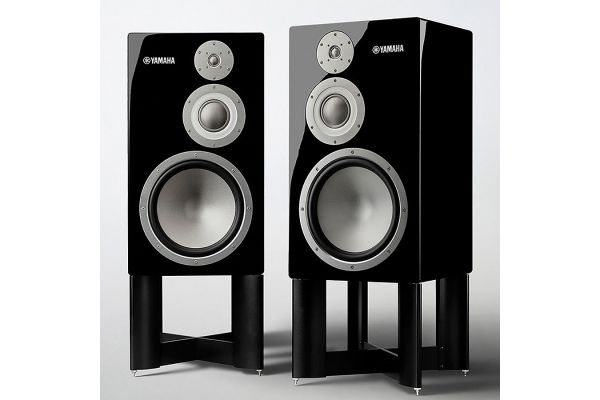 Large image of Yamaha NS-5000 Black Bookshelf Speakers With Stands - NS-5000PNST
