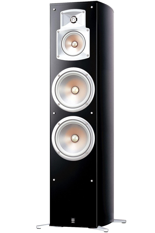 yamaha black floorstanding home theater speaker ns 777