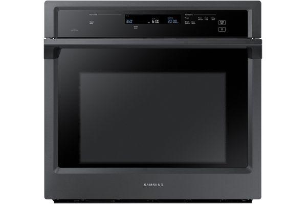"""Samsung 30"""" Fingerprint Resistant Black Stainless Steel Single Wall Oven - NV51K6650SG"""