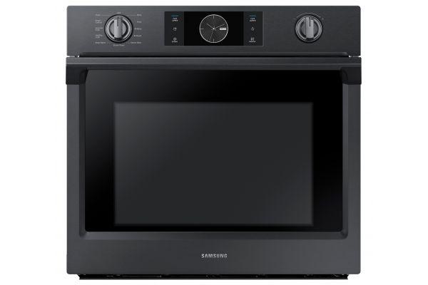 """Samsung 30"""" Fingerprint Resistant Black Stainless Steel Single Wall Oven - NV51K7770SG"""