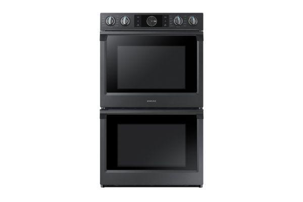 "Large image of Samsung 30"" Fingerprint Resistant Black Stainless Steel Double Wall Oven - NV51K7770DG/AA"
