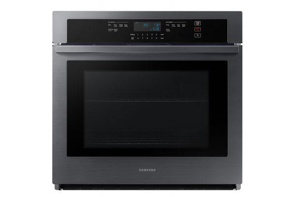 """Samsung 30"""" Fingerprint Resistant Black Stainless Steel Single Wall Oven - NV51T5511SG"""