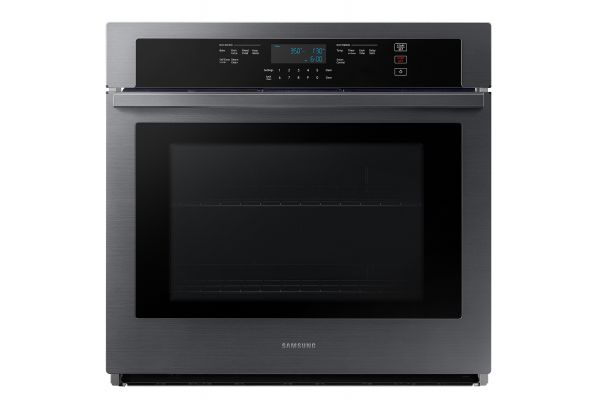"Large image of Samsung 30"" Fingerprint Resistant Black Stainless Steel Single Wall Oven - NV51T5511SG/AA"