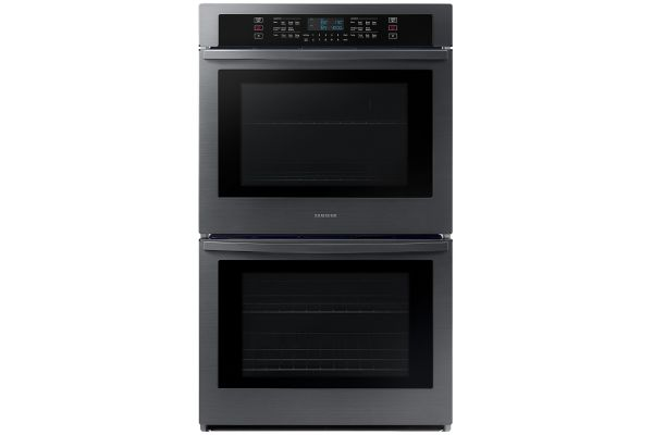 """Large image of Samsung 30"""" Fingerprint Resistant Black Stainless Steel Double Wall Oven - NV51T5511DG/AA"""
