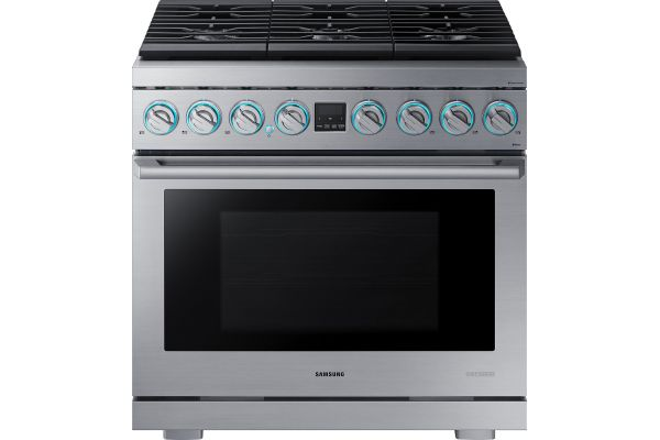 "Samsung Chef Collection 36"" Stainless Steel Gas Professional Range - NX36R9966PS"