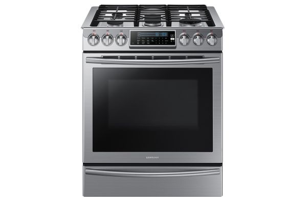 """Large image of Samsung 30"""" Stainless Steel Slide-In Convection Gas Range - NX58H9500WS/AA"""