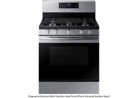 Samsung 5.8 Cu. Ft. Fingerprint Resistant Black Stainless Steel Freestanding Gas Range - NX58R4311SG