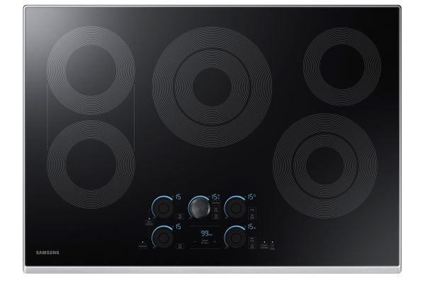 """Large image of Samsung 30"""" Stainless Steel Electric Cooktop - NZ30K7570RS/AA"""