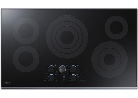 "Samsung 36"" Black Stainless Steel Electric Cooktop - NZ36K7570RG"