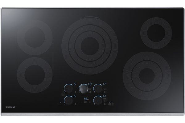 """Large image of Samsung 36"""" Stainless Steel Electric Cooktop - NZ36K7570RS/AA"""