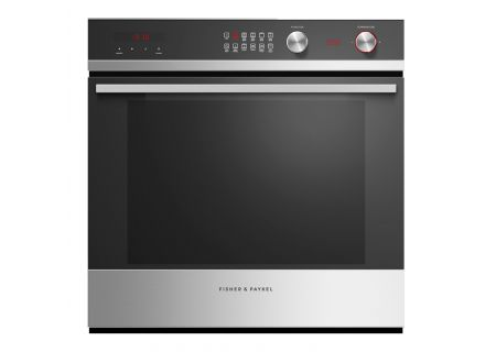 "Fisher & Paykel 24"" Black Glass And Stainless Steel Single Wall Oven - OB24SCDEPX1"