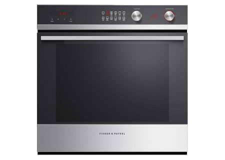 "Fisher & Paykel 24"" Black Glass And Stainless Steel Single Wall Oven - OB24SCDEX1"