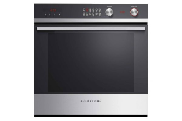 """Fisher & Paykel 24"""" Black Glass And Stainless Steel Single Wall Oven - OB24SCDEX1"""