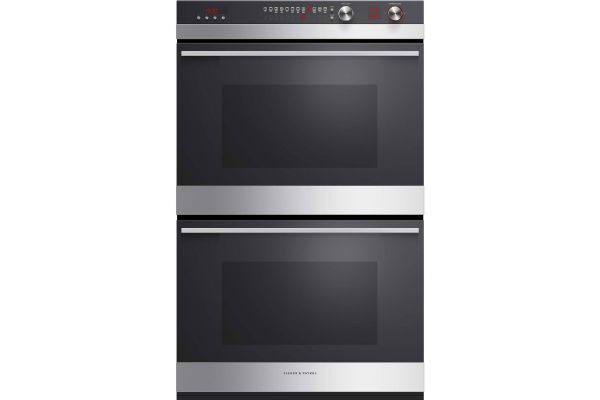 """Large image of Fisher & Paykel 30"""" Stainless Steel And Black Glass Double Built-In Oven - OB30DDEPX3N"""