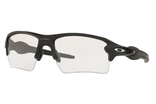 Large image of Oakley Flak 2.0 XL Matte Black Sunglasses, Clear Lenses, 59mm - OO91889859