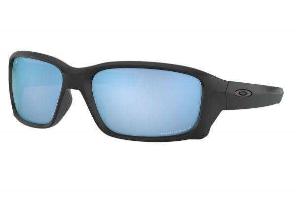 Large image of Oakley Straightlink Prizm Deep Water Polarized Black Mens Sunglasses - OO933105