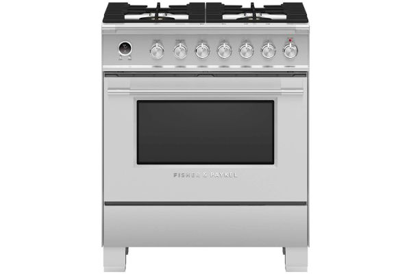 """Large image of Fisher & Paykel 30"""" Stainless Steel Freestanding Dual Fuel  Range - OR30SCG6X1"""