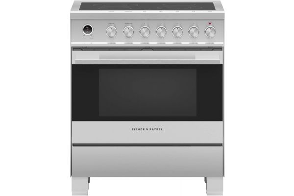 "Large image of Fisher & Paykel 30"" Brushed Stainless Steel Freestanding Electric Range - OR30SDE6X1"