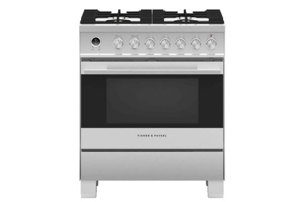 """Large image of Fisher & Paykel 30"""" Stainless Steel Freestanding Dual Fuel Range - OR30SDG6X1"""