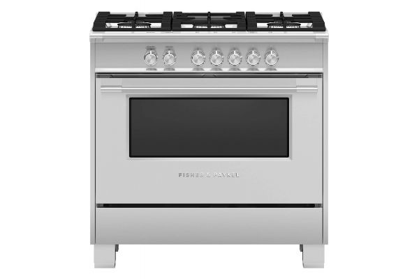 """Large image of Fisher & Paykel 36"""" Stainless Steel Freestanding Gas Range - OR36SCG4X1"""