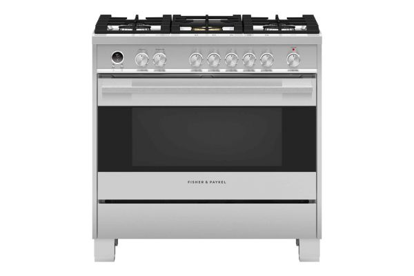 """Large image of Fisher & Paykel 36"""" Stainless Steel Dual Fuel Range - OR36SDG6X1"""