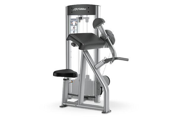 Large image of Life Fitness Optima Series Bicep Curl Workout Machine - OSBC