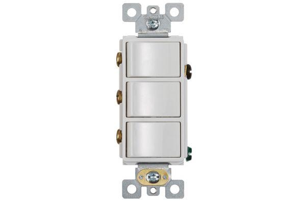 Large image of Broan White 3-Rocker Switch - P3RW