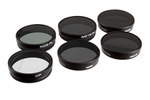 Large image of PolarPro 6 Pack DJI Phantom 4 & Phantom 3 Professional Filters - P5002