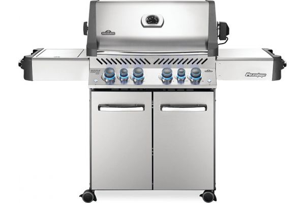 Large image of Napoleon Prestige 500 Series RSIB Stainless Steel Natural Gas Freestanding Grill - P500RSIBNSS-3