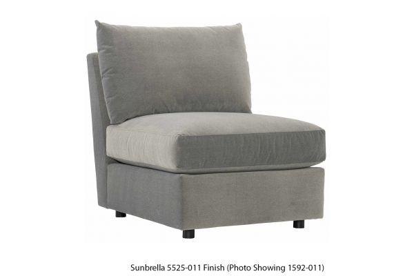 Large image of Bernhardt Sanctuary Plush Armless Chair - P7830-5525-011