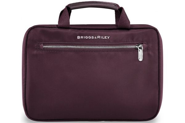 Large image of Briggs & Riley Plum Rhapsody Hanging Toiletry Kit - PA100-64