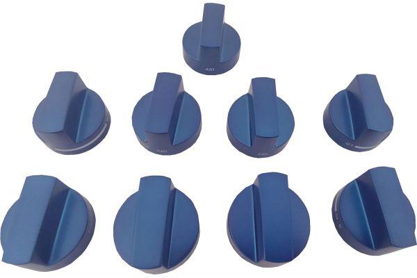 Large image of Thermador Blue Metal Knob Kit - PAKNOBLUWR