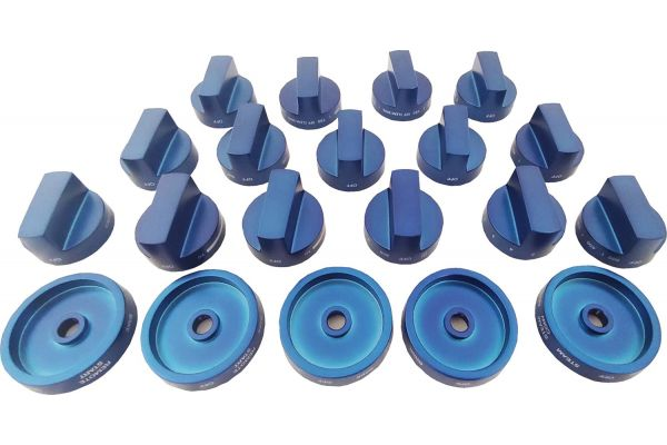 Large image of Thermador Blue Metal Knob Kit - PARKB60CGY